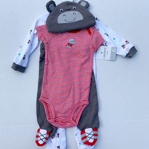 NWT Carter's Football Outfit 4 pc 3-6 mo